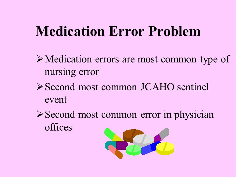 Medication Error Problem