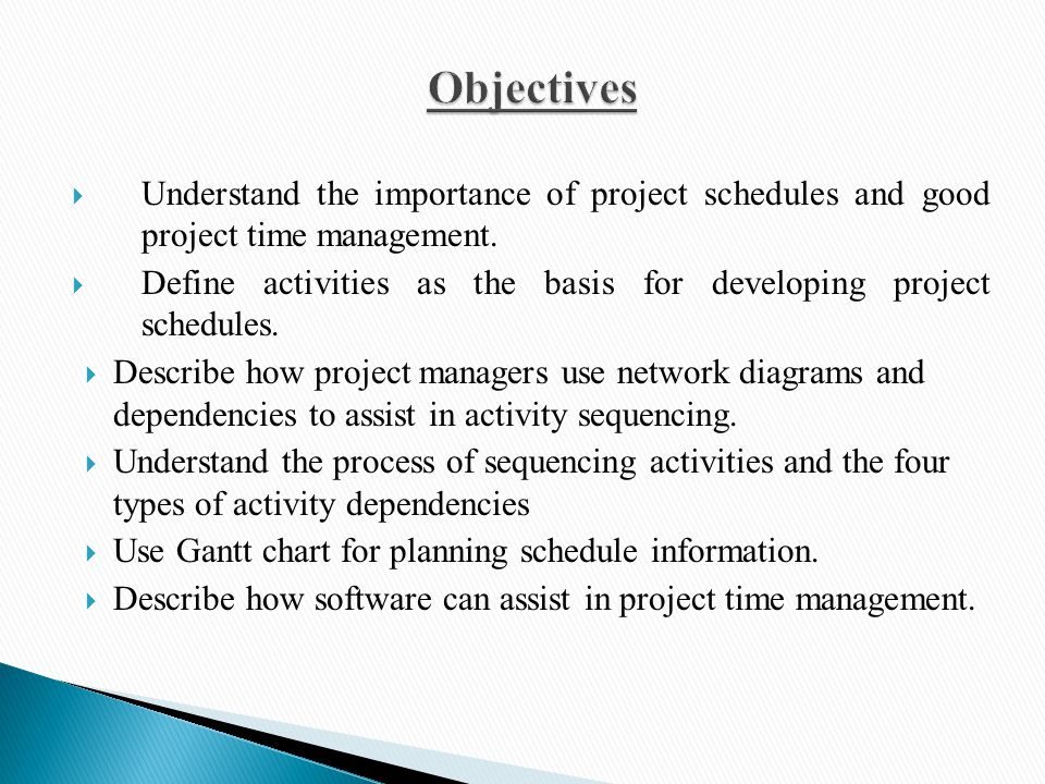 Project Time Management Ppt Video Online Download