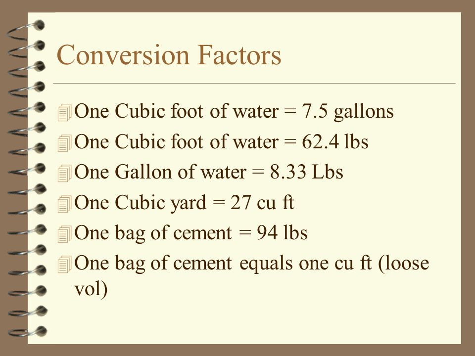 How Many Gallons In A Cubic Foot Of Water Water Ionizer