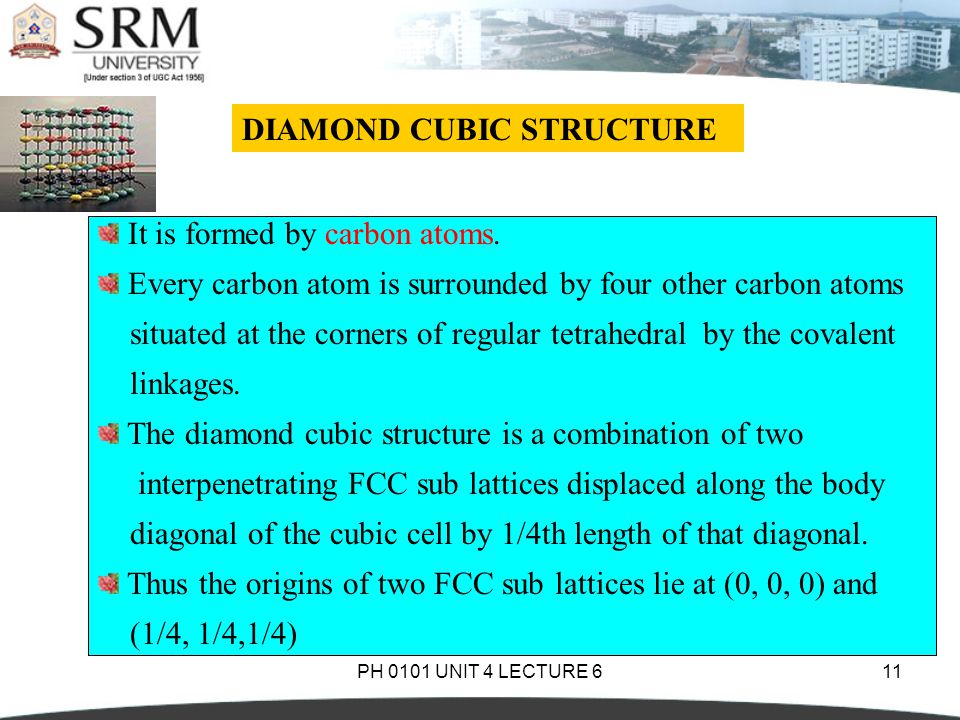 how to draw diamond cubic structure
