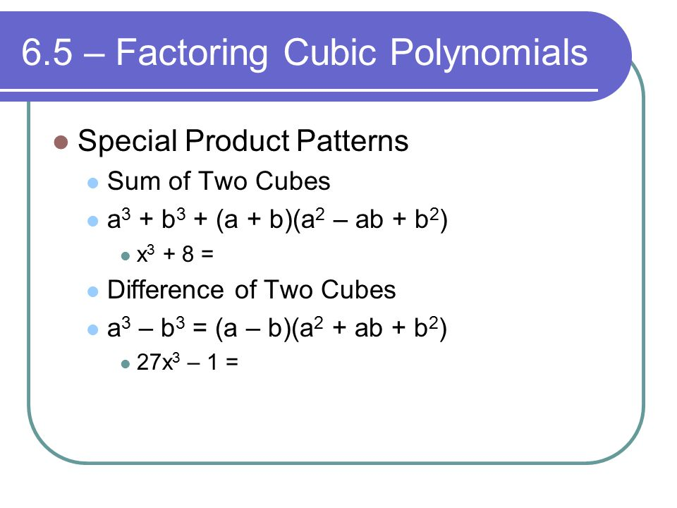Chapter 6 – Polynomials and Polynomial Functions - ppt video ...