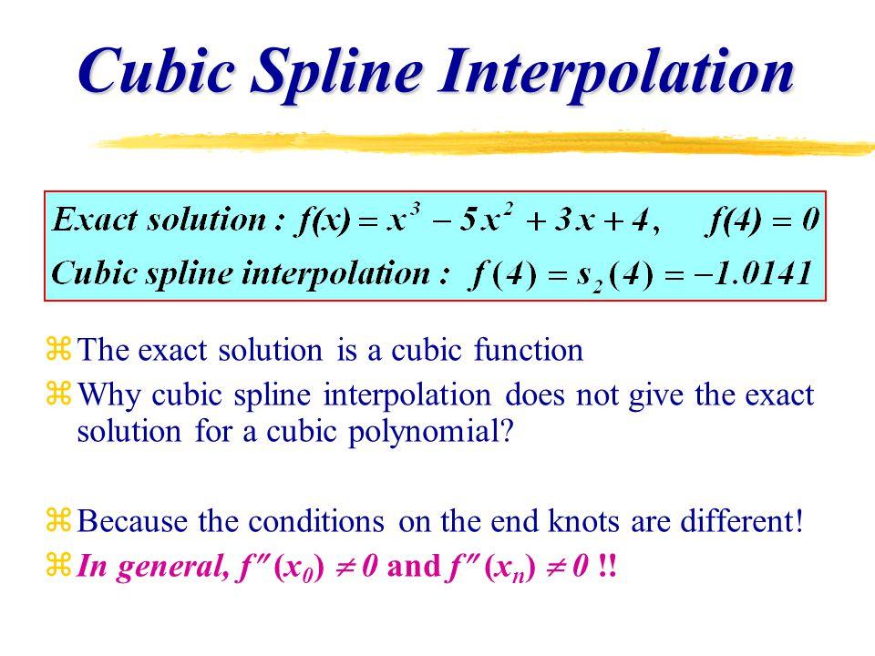 Curve Fitting: Splines - ppt video online download