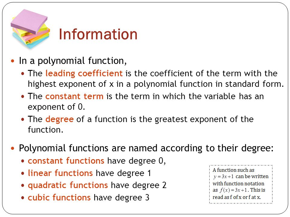 Topic 1 Graphs Of Polynomial Functions Ppt Video Online Download