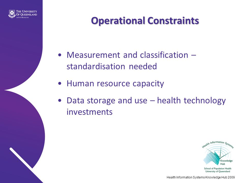 Operational Constraints