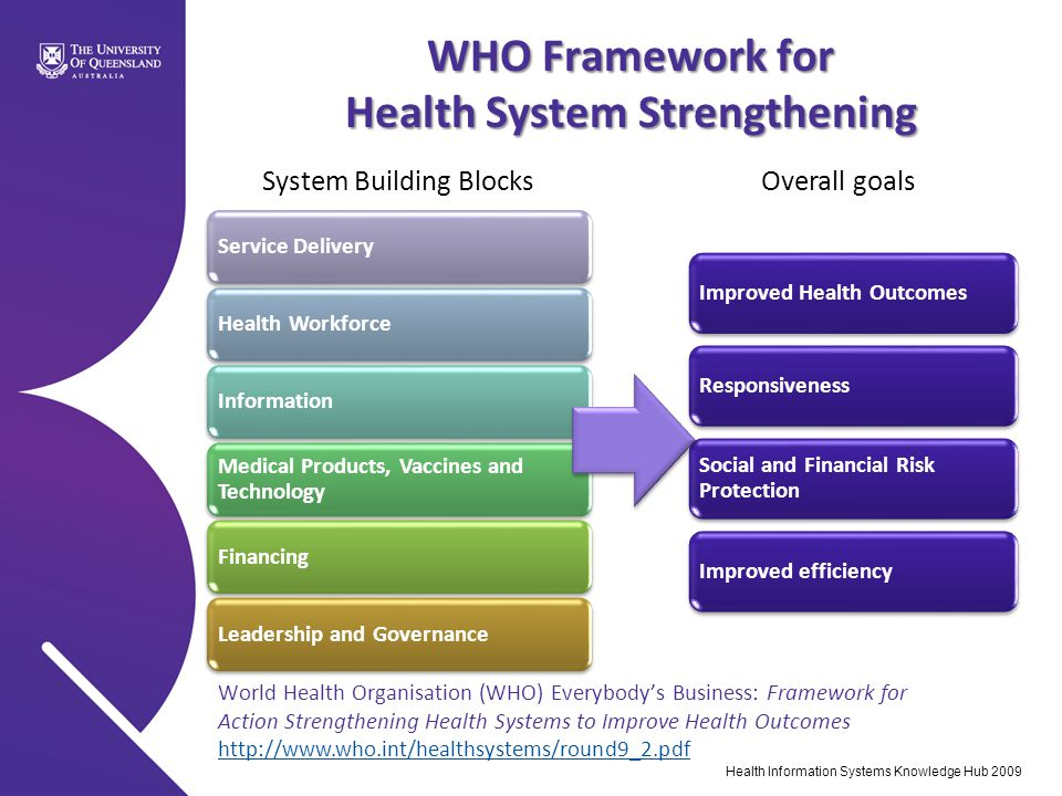 WHO Framework for Health System Strengthening