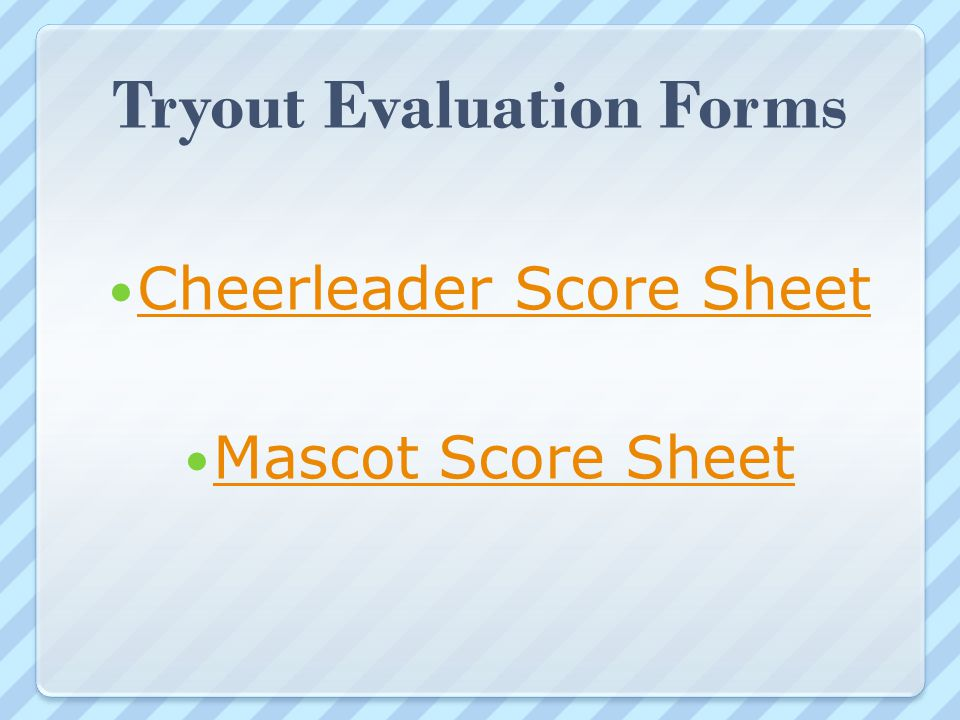 Sample Cheer Leading Tryout Score Sheet | Welcome Aisd Middle School Parent Candidate Cheer Meeting