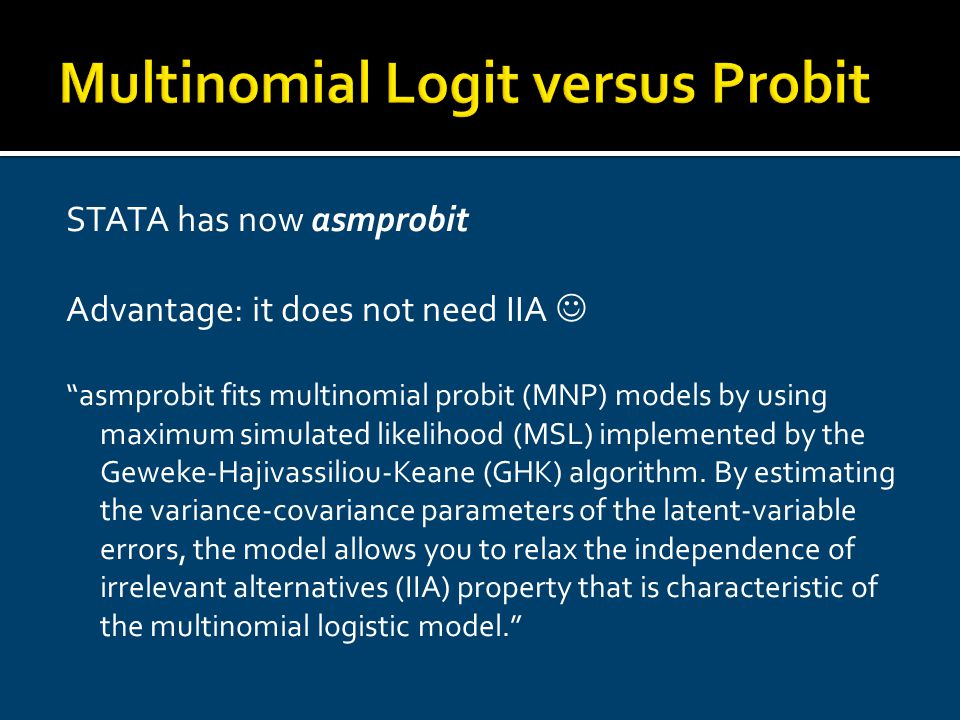 Qualitative and Limited Dependent Variable Models - ppt