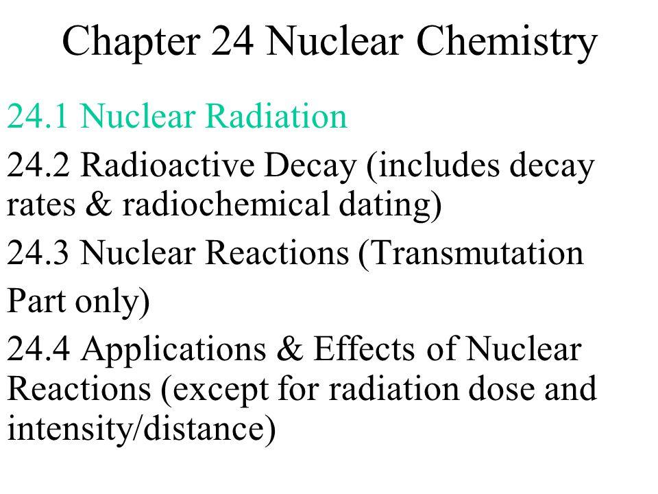Chapter 24 Nuclear Chemistry Ppt Download