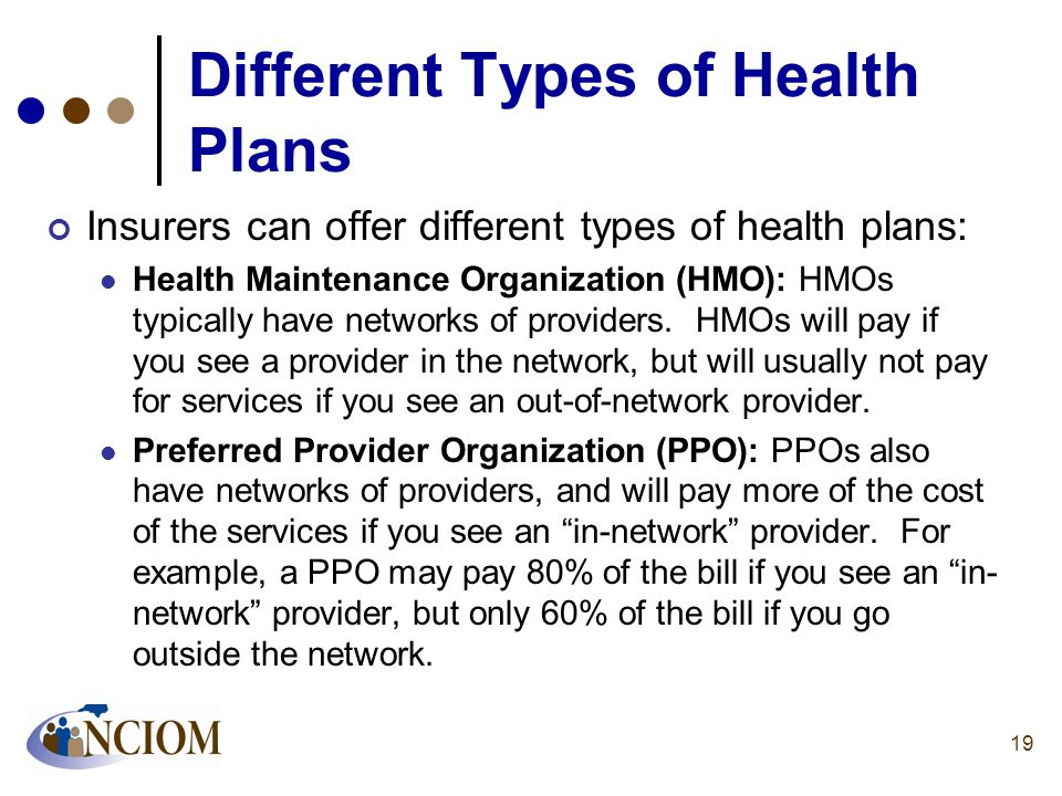 Different Types of Health Plans