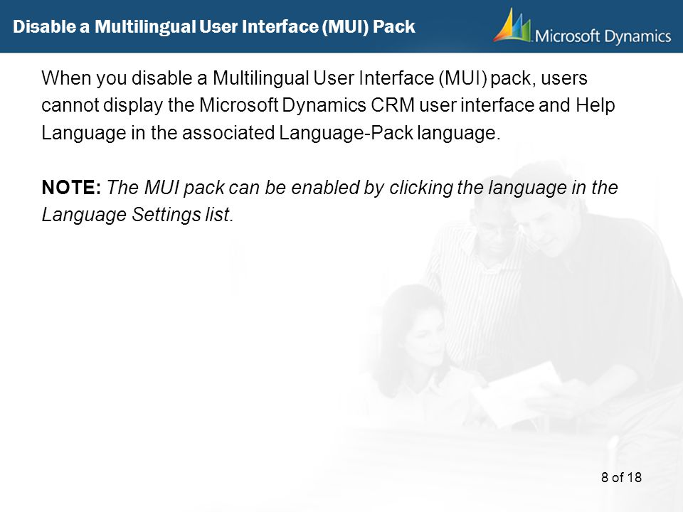Disable a Multilingual User Interface (MUI) Pack