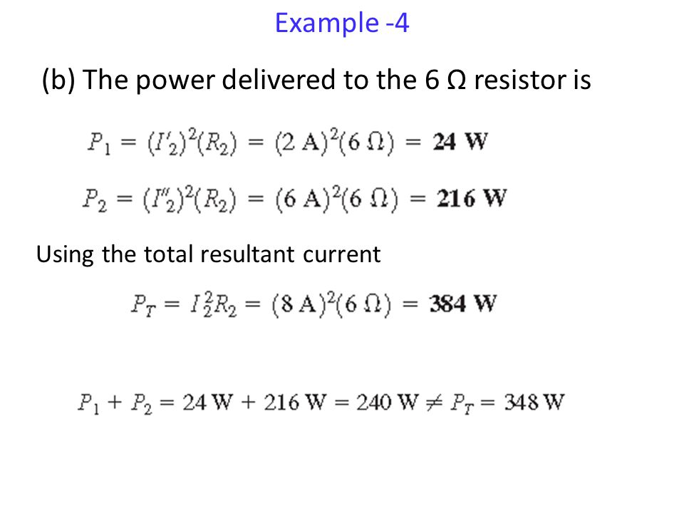 (b) The power delivered to the 6 Ω resistor is