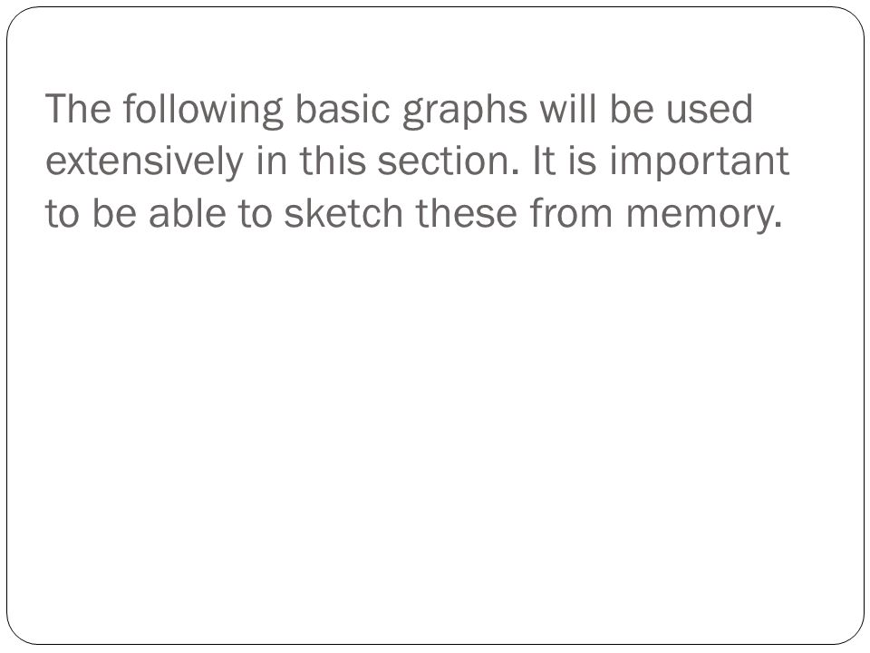 The following basic graphs will be used extensively in this section