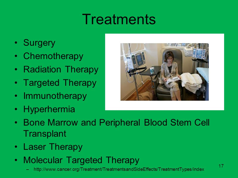 Treatments Surgery Chemotherapy Radiation Therapy Targeted Therapy