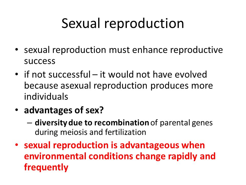 Environmental conditions that would favor sexual reproduction