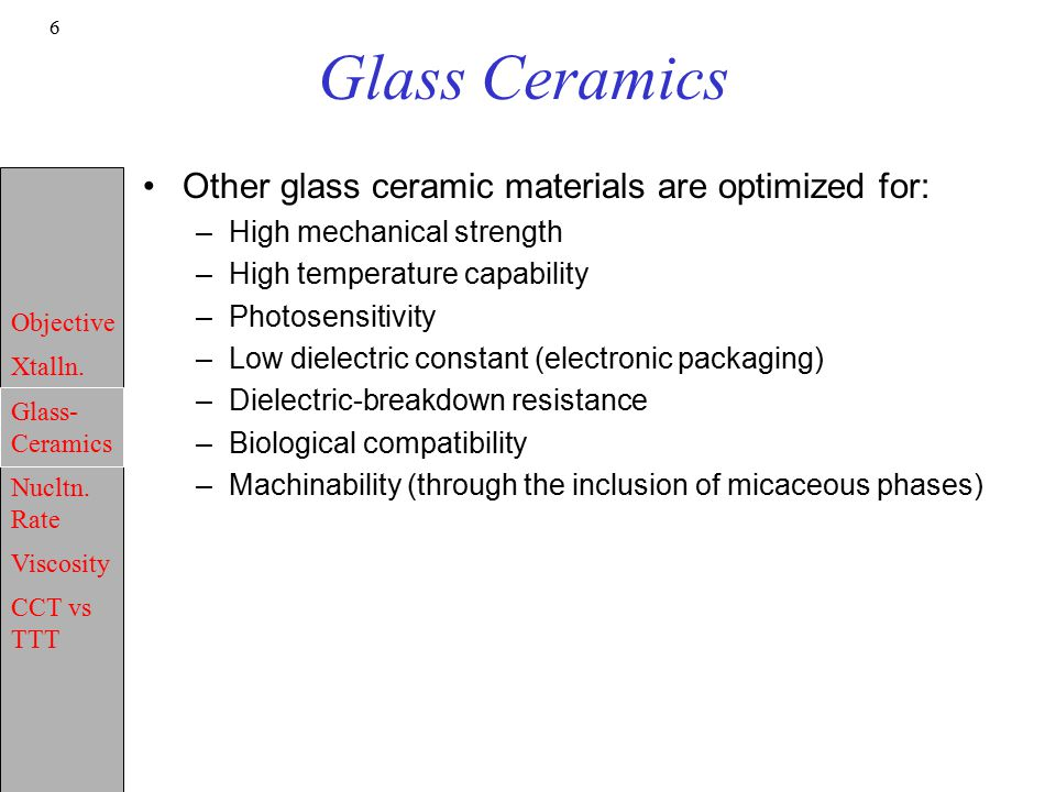 Microstructure-Properties: II Crystallization of Glass - ppt video