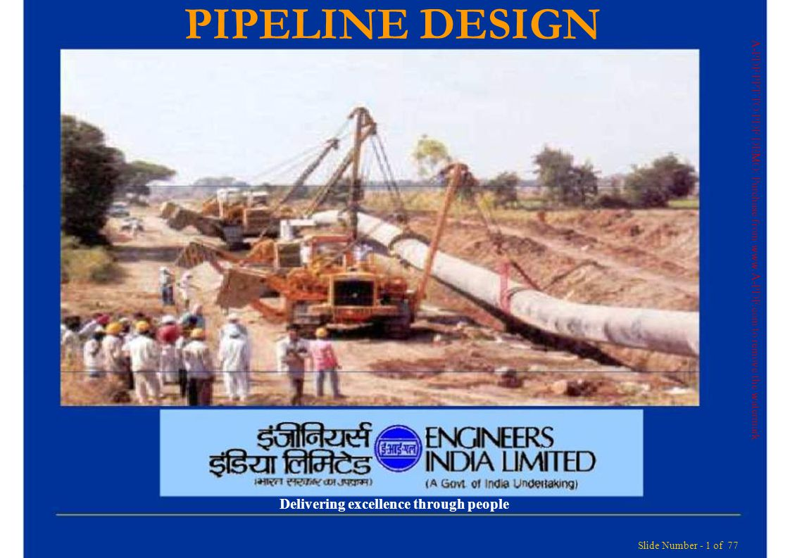 PIPELINE DESIGN Delivering excellence through people