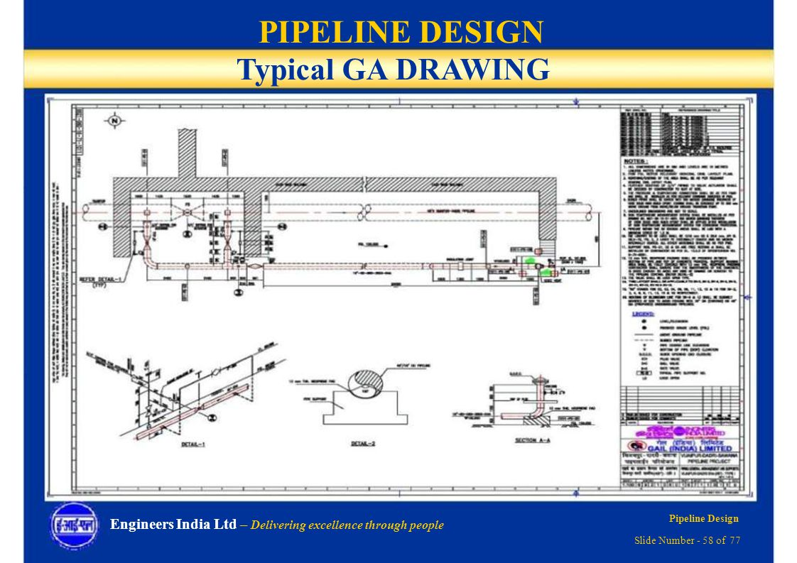 Pipeline Design Delivering Excellence Through People Ppt Download Piping Layout Drawings Pictures Typical Ga Drawing