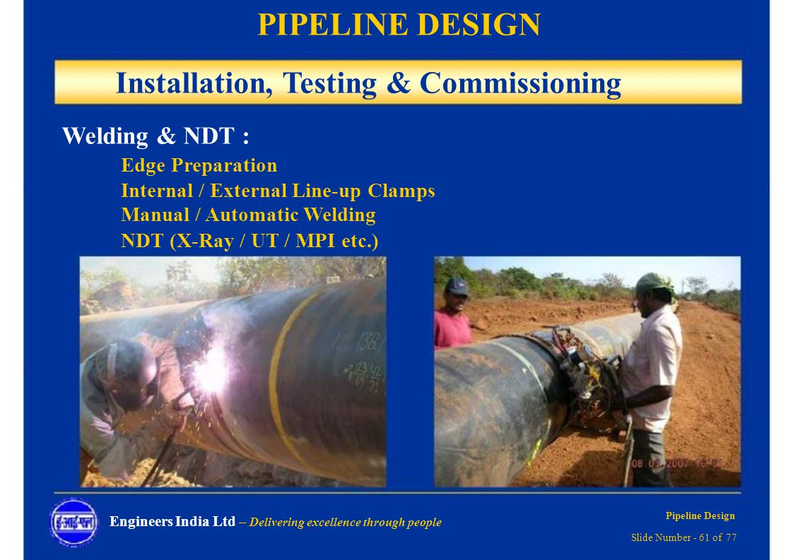 Pipeline Design Delivering Excellence Through People Ppt Download Piping Layout Manual 61 Installation