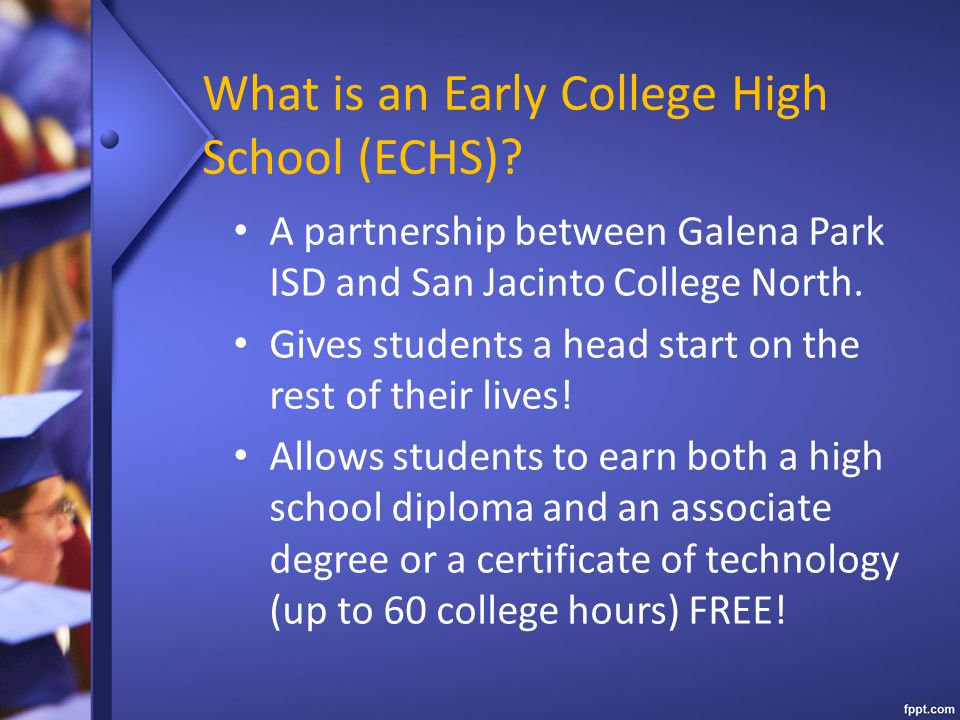What is an Early College High School (ECHS)