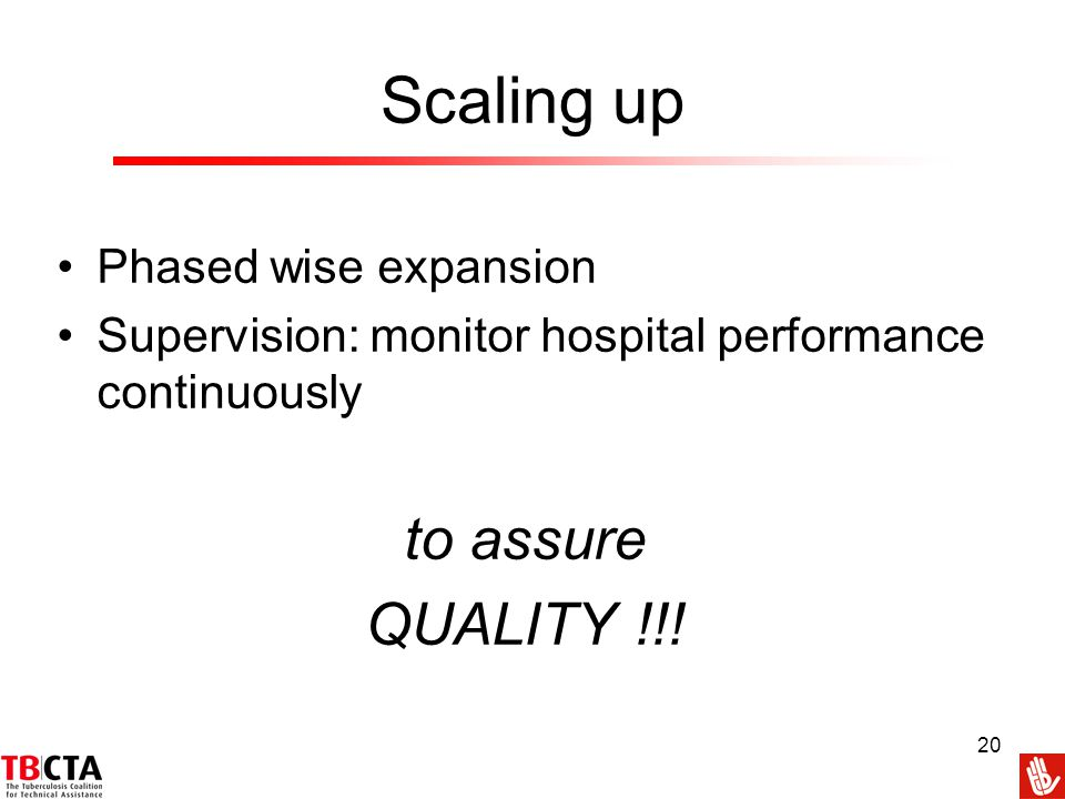 Scaling up to assure QUALITY !!! Phased wise expansion