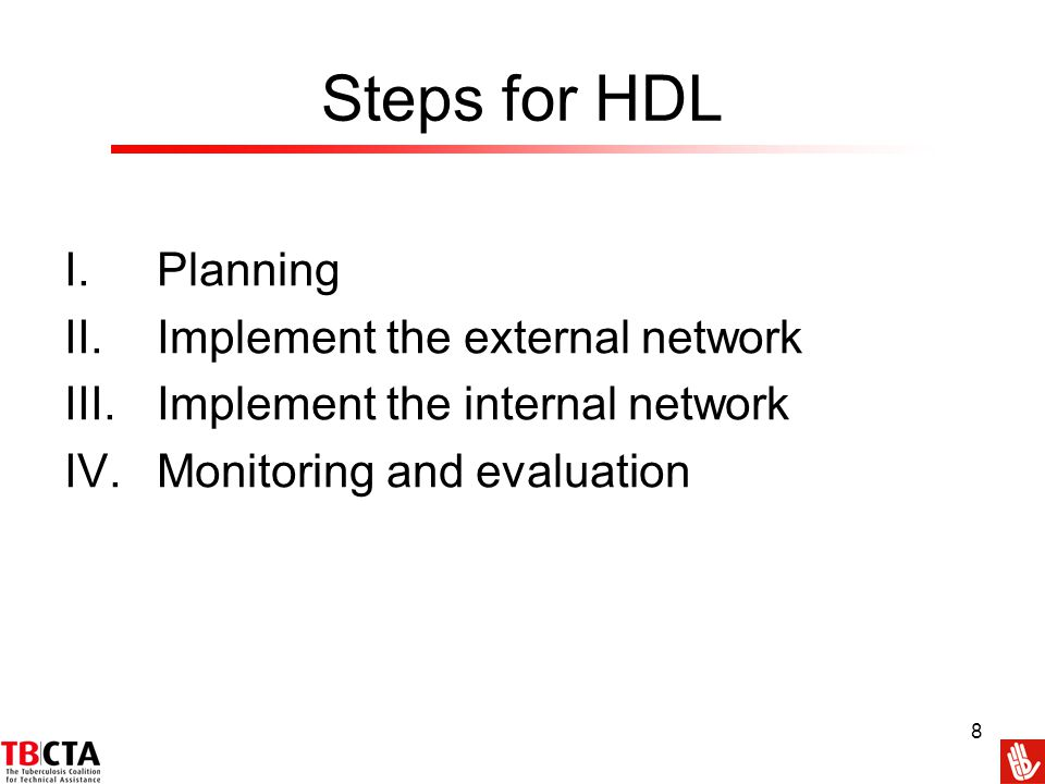 Steps for HDL Planning Implement the external network