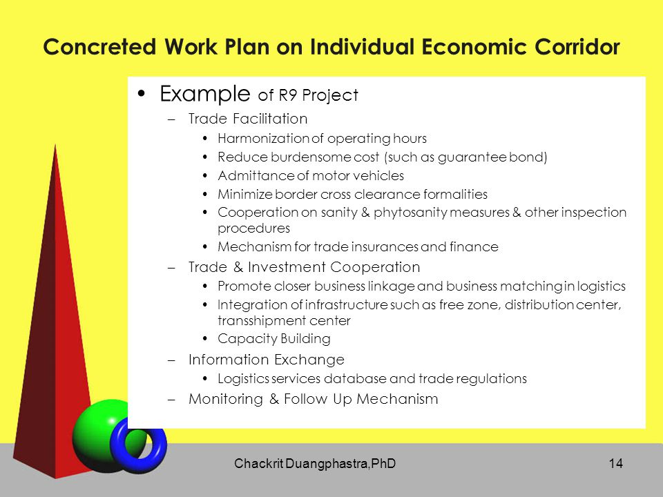 Concreted Work Plan on Individual Economic Corridor