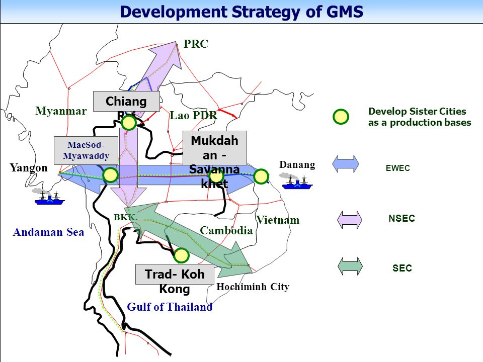 Development Strategy of GMS Mukdahan -Savannakhet