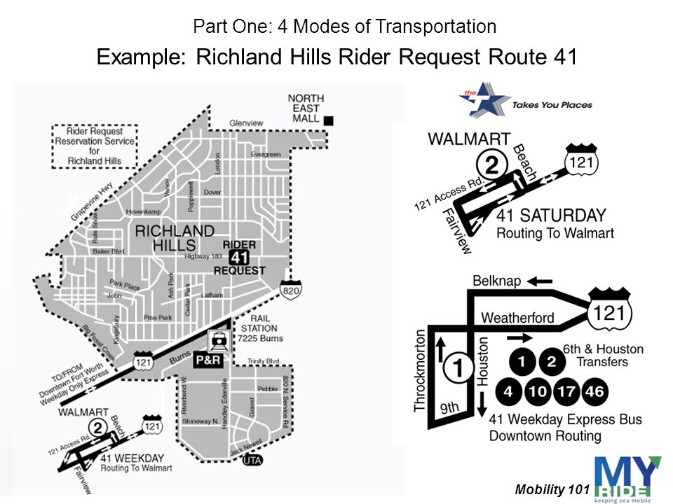 Example: Richland Hills Rider Request Route 41