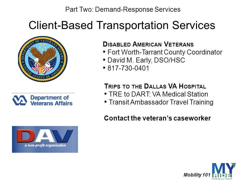 Client-Based Transportation Services