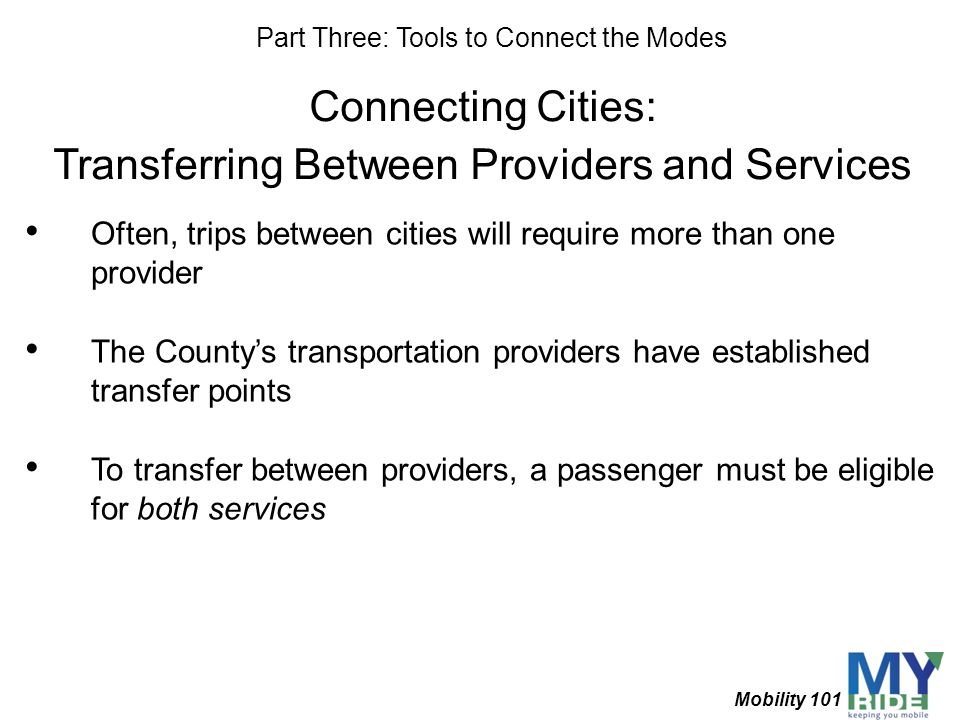 Transferring Between Providers and Services