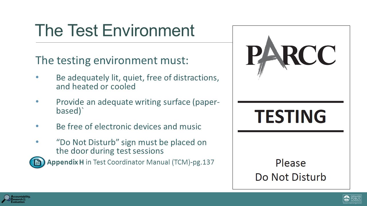 The Test Environment Testing Must