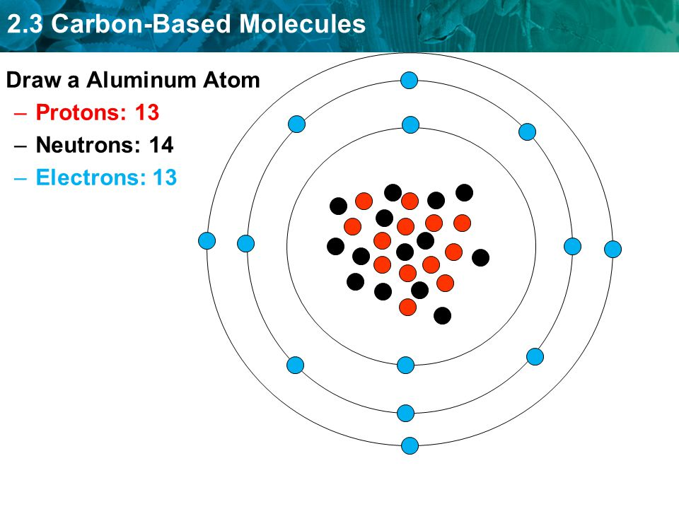 Sponge anywhere on pg ppt download 2 draw a aluminum atom protons 13 neutrons 14 electrons 13 ccuart Gallery