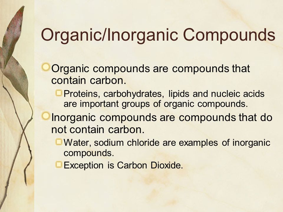 Quiz & worksheet inorganic compounds | study. Com.