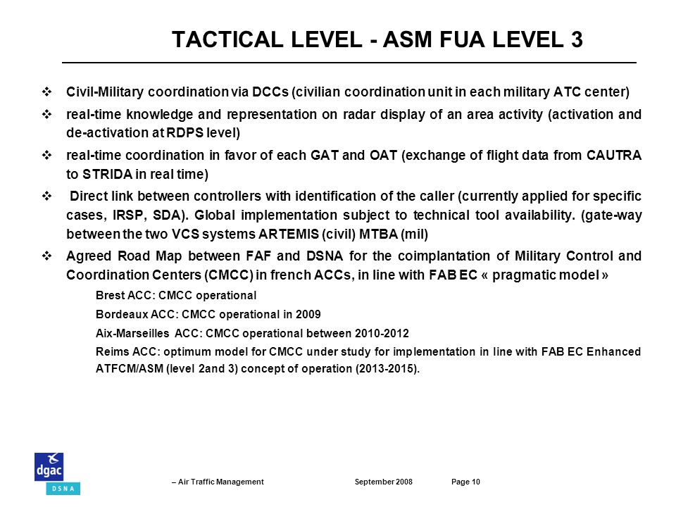 TACTICAL LEVEL - ASM FUA LEVEL 3