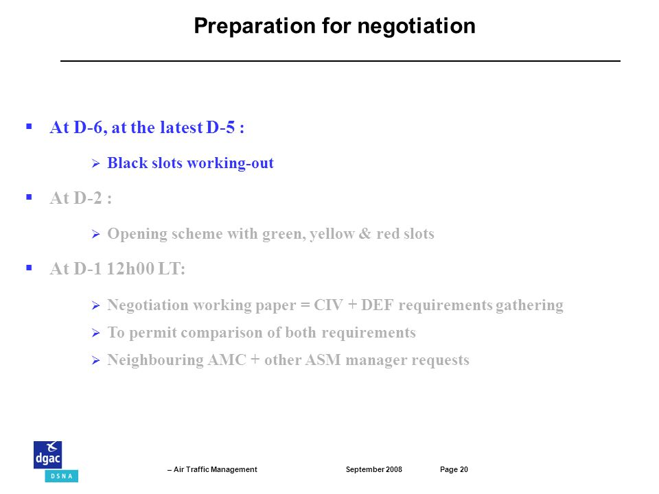 Preparation for negotiation
