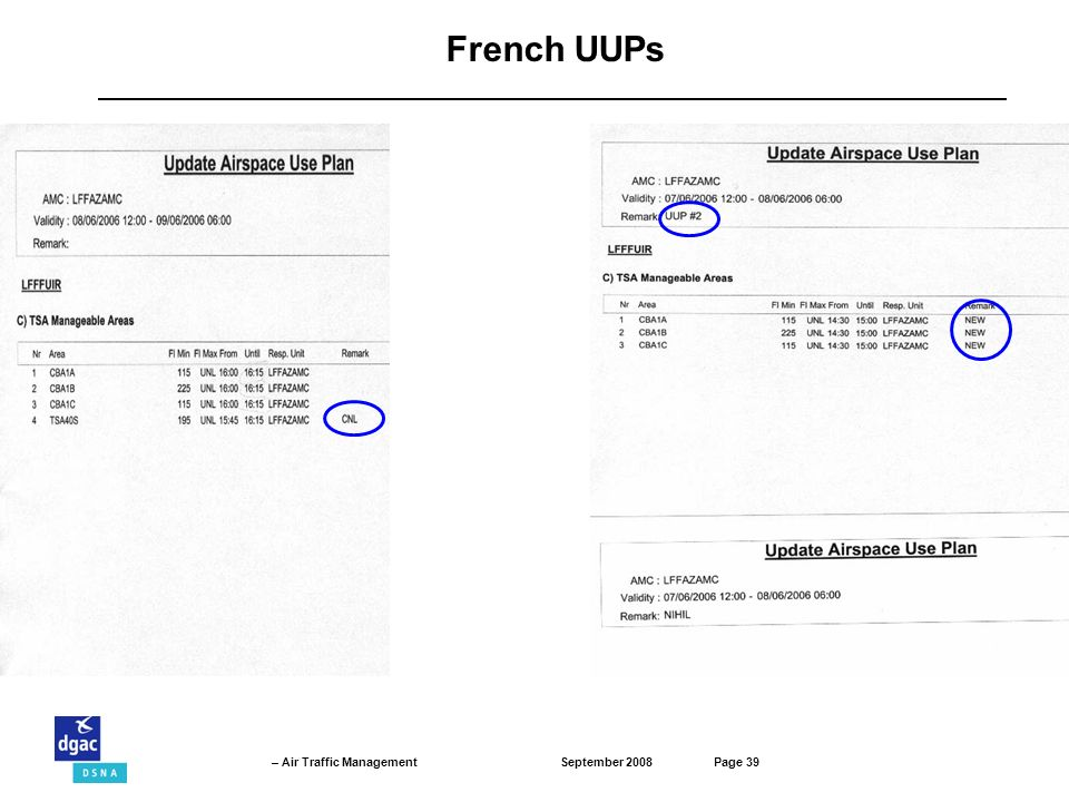 French UUPs