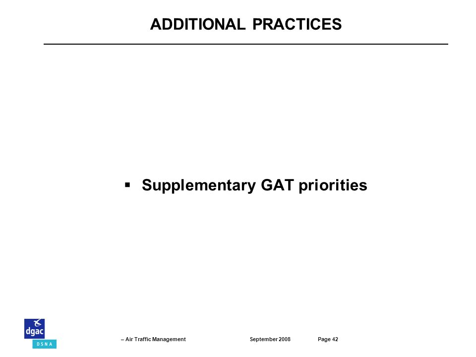 Supplementary GAT priorities