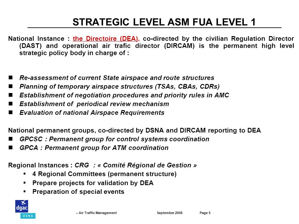STRATEGIC LEVEL ASM FUA LEVEL 1