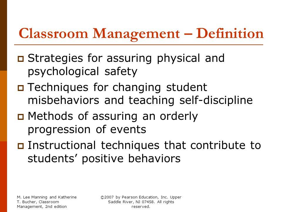 Classroom Management Definition