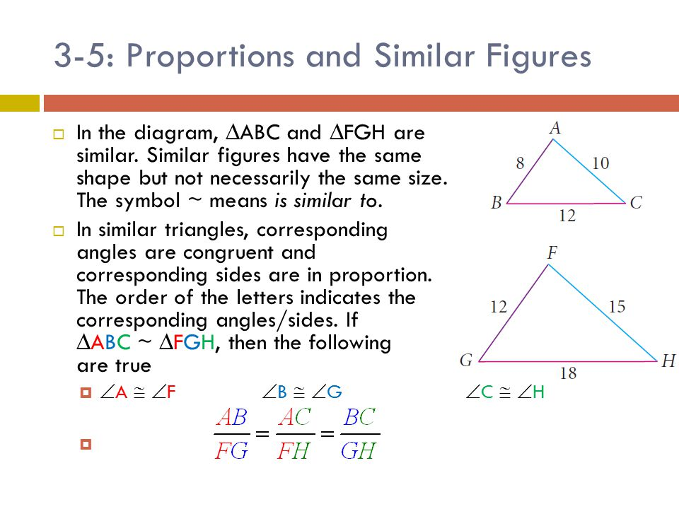 3-5: Proportions and Similar Figures - ppt video online download