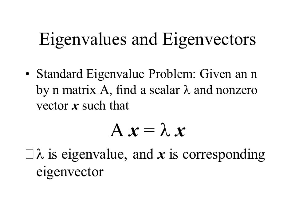 solve eigenvalue problem