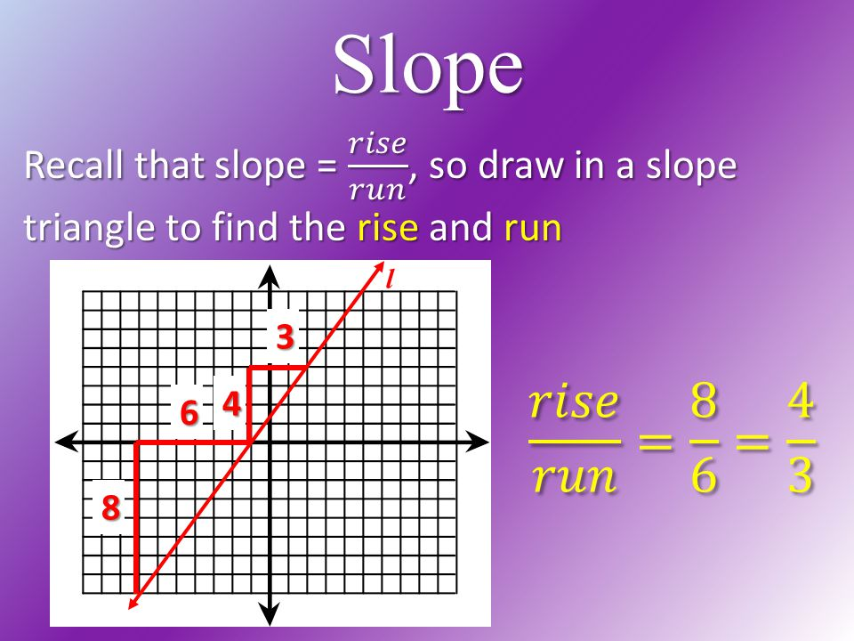 how to find the slope of a triangle