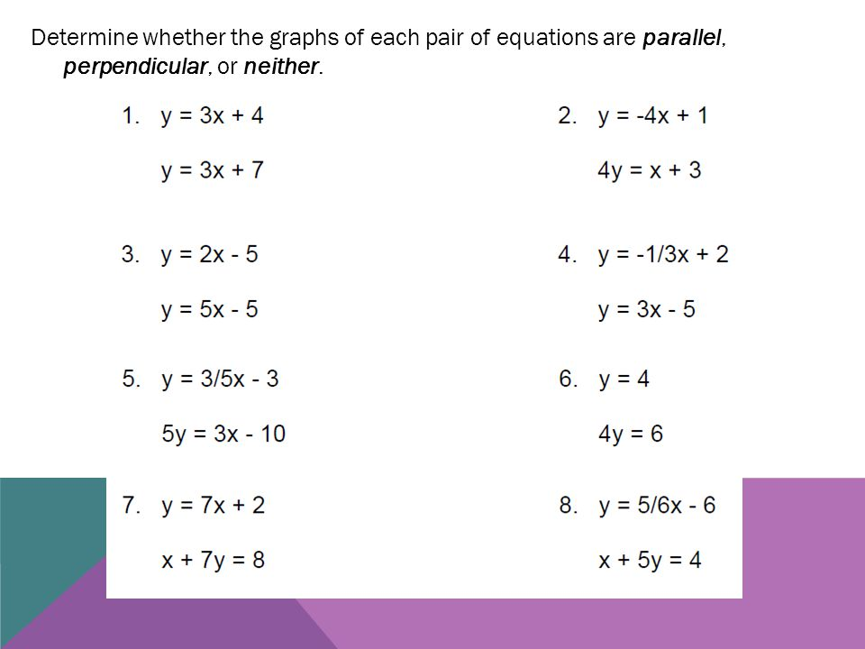 parallel and perpendicular lines practice ppt download