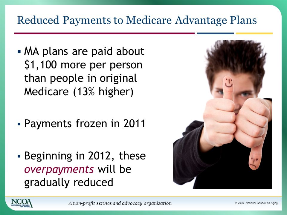 Reduced Payments to Medicare Advantage Plans