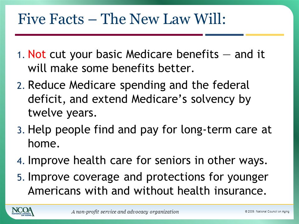 Five Facts – The New Law Will: