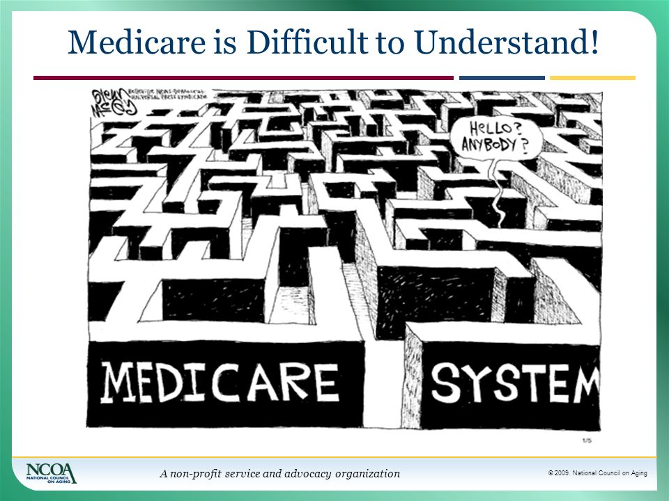 Medicare is Difficult to Understand!