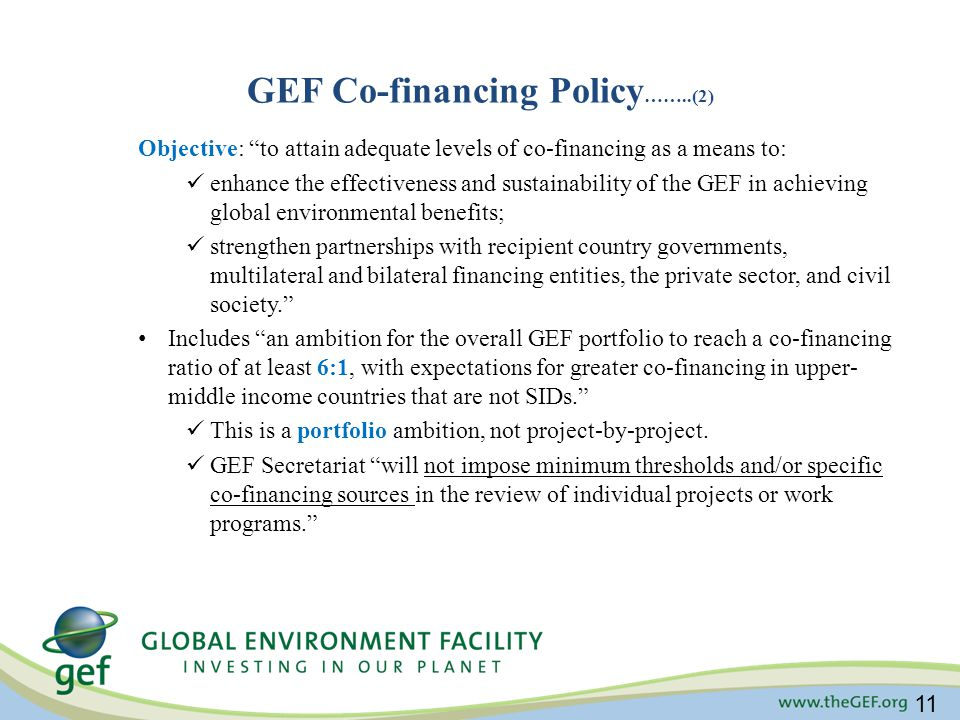 GEF Co-financing Policy……..(2)