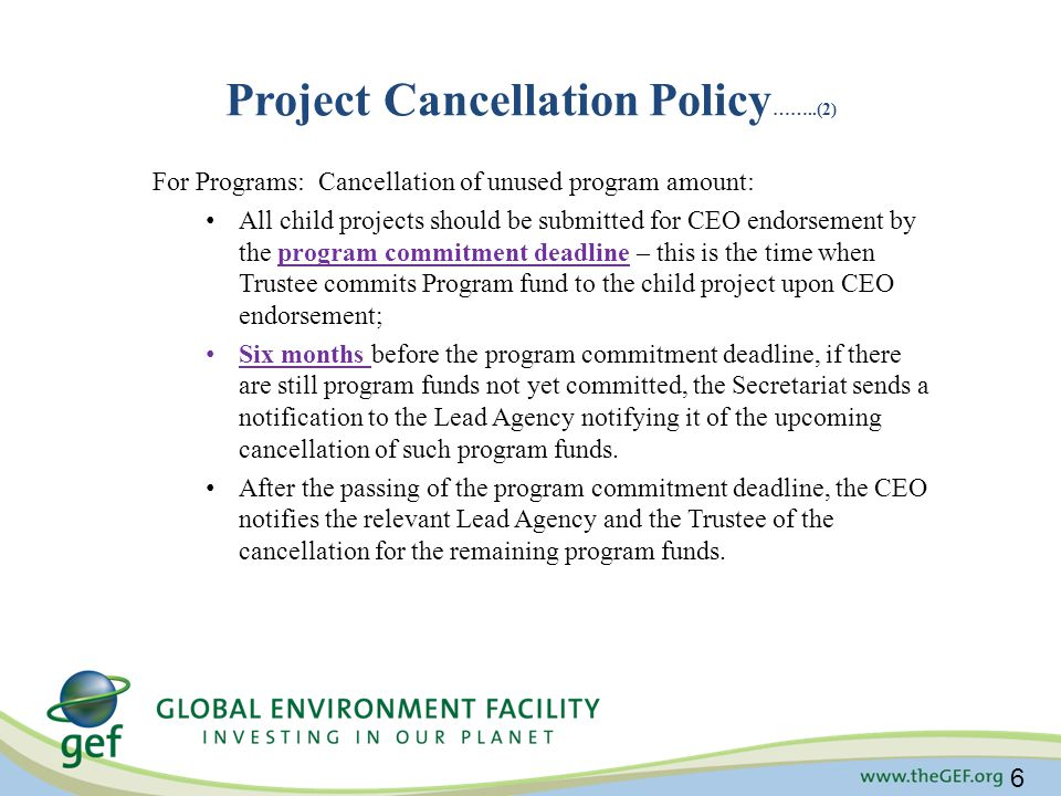 Project Cancellation Policy……..(2)