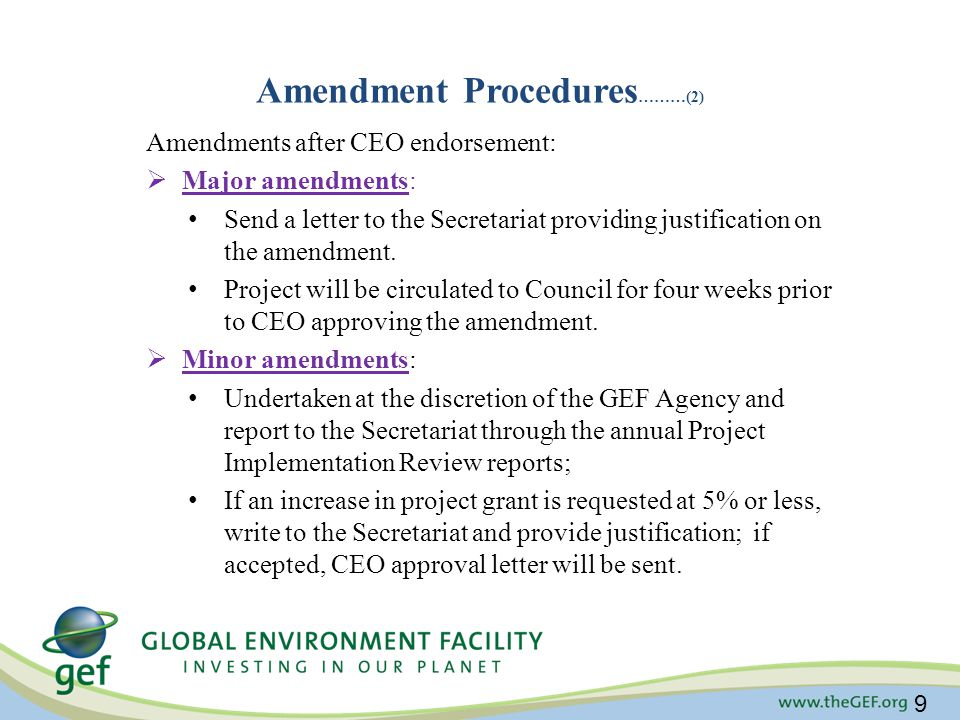 Amendment Procedures………(2)