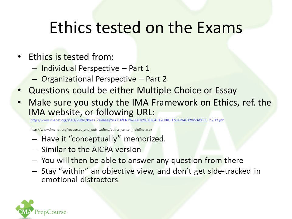 Ethics for Management Accountants and Cost Management Concepts - ppt